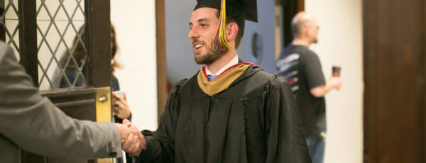 A Lauder Institute student graduating.