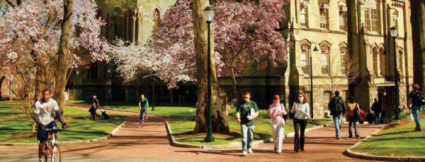 The Lauder Institute campus in the spring.