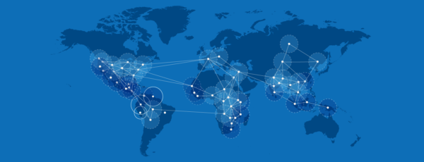 World map showing the global immersion program at the Lauder Institute.